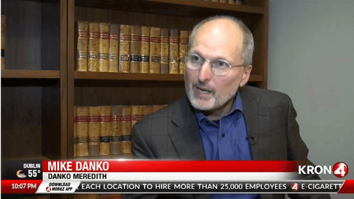 Mike Danko being interviewed by Kron 4 regarding a lawsuit filed by Northern California Fire Lawyers on behalf of Camp Fire victims.